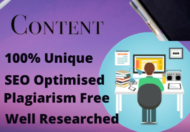 1000 words SEO Optimised Content Writing