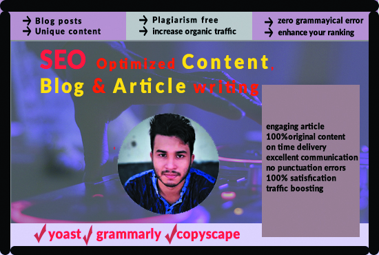 I will write 100 unique content or blog post