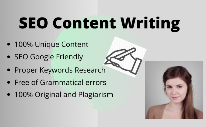 Do 1200 words SEO content writing for your blog or website