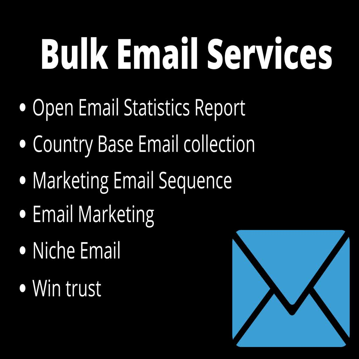 I will Provide 10k Bulk Email List, Niche targeted email collection & Email Verification.