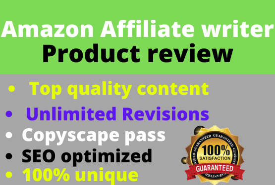 i will write SEO friendly amazon affiliate articles