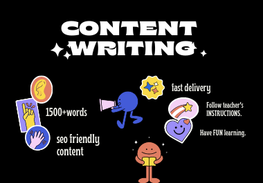 I will write 1500 well researched SEO website contents,articles writing, blog posts