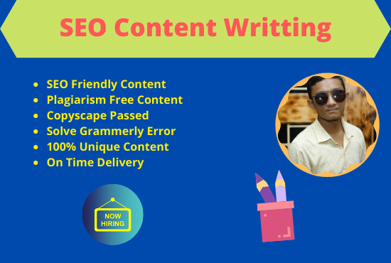 I will be your 1000 words content writer for your website content