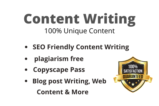 I will write 1000 words SEO friendly web site content & blog post on any topic