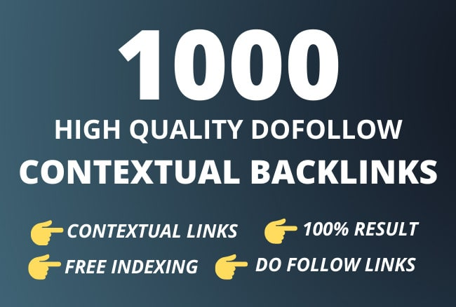 I will build high quality contextual SEO dofollow backlinks