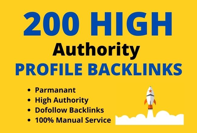 Build 200 manually high authority profile backlinks