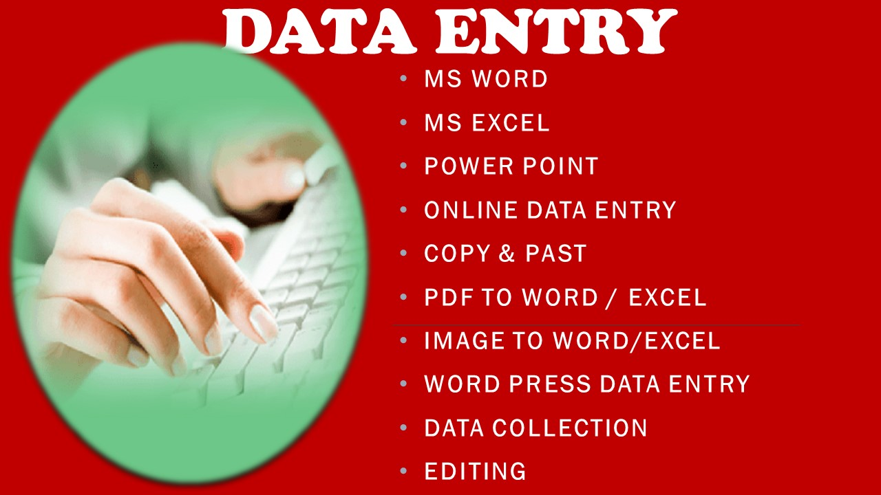 I will be your virtual assistant for data entry in Microsoft word,  Excel PowerPoint and web research