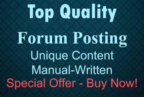 write High-Quality Forum Posts
