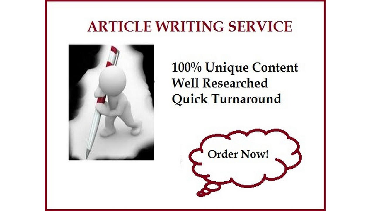 I can write an article of up to 1000 words on any topic or niche