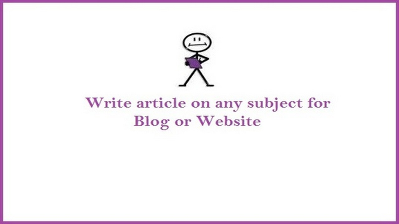 I can write an article of up to 500 words on any topic or niche