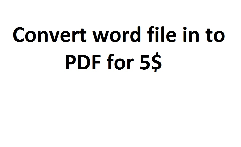 Convert word documents to pdf format