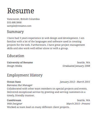 Create Proffessional Resumes for you