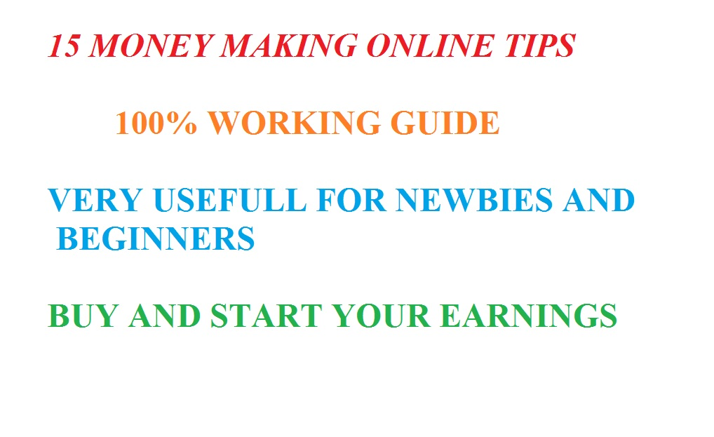 Money Making Tips Ebook