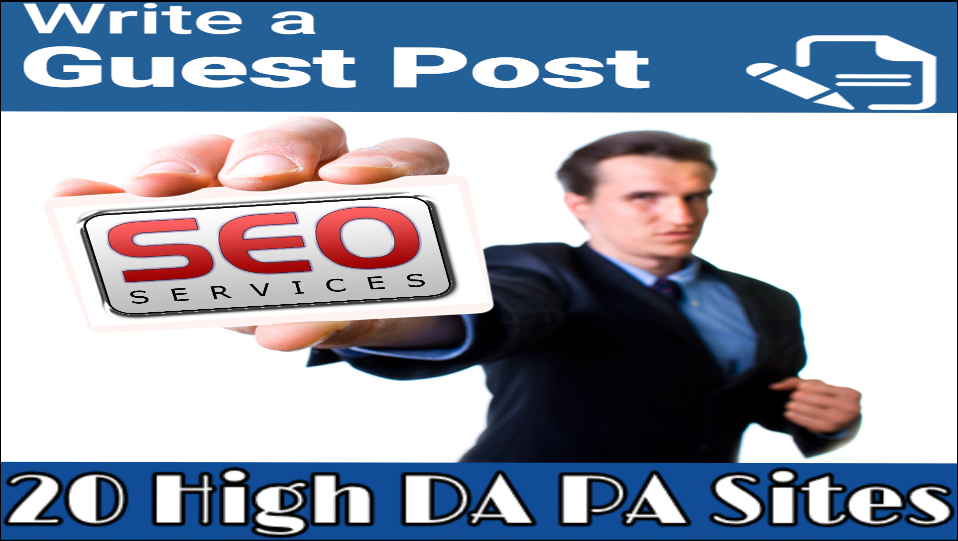 Write and publish a guest post on 10 high DA50 to 93