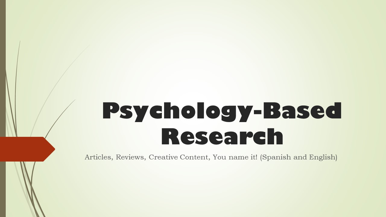 Will Write You a Psychology Based Research Article