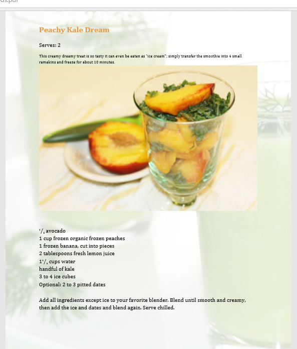 40 Juice, Smoothie, and Superfood Recipes with Pictures eBook