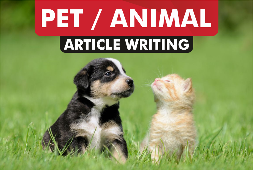 article writing for PET or ANIMAL blog