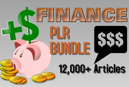 12000 Finance PLR Articles bundle