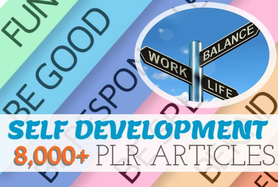 8000 Self Development PLR Articles bundle