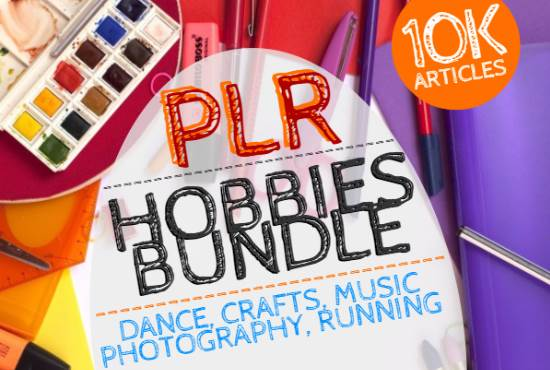 10,000 Hobbies PLR Articles bundle