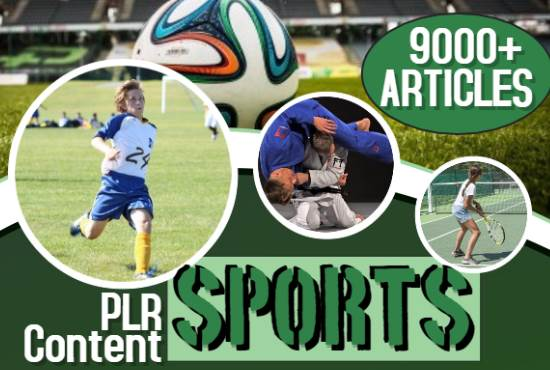 9000 Sports PLR Articles bundle