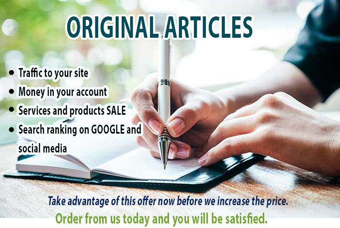 Get 2 original 500 Word Articles in less than 48 hours