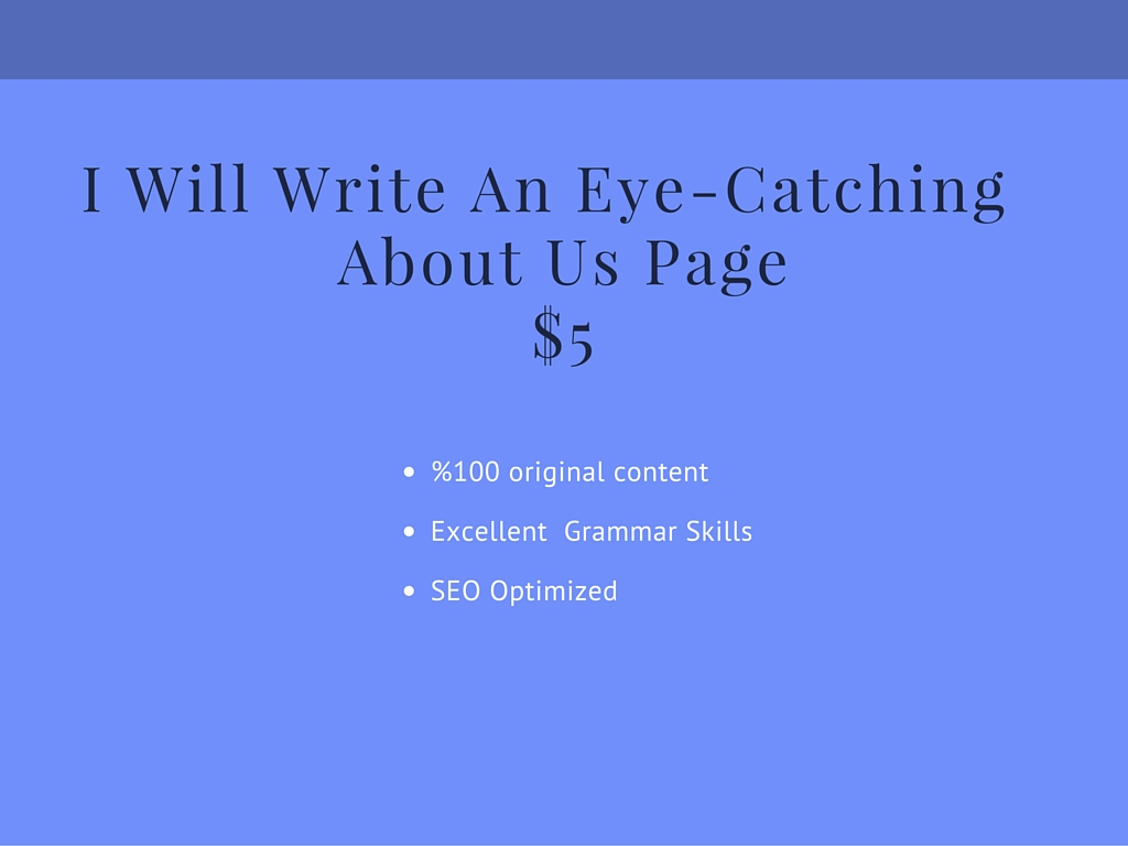 An Eye Catching 300-500 word About US Page