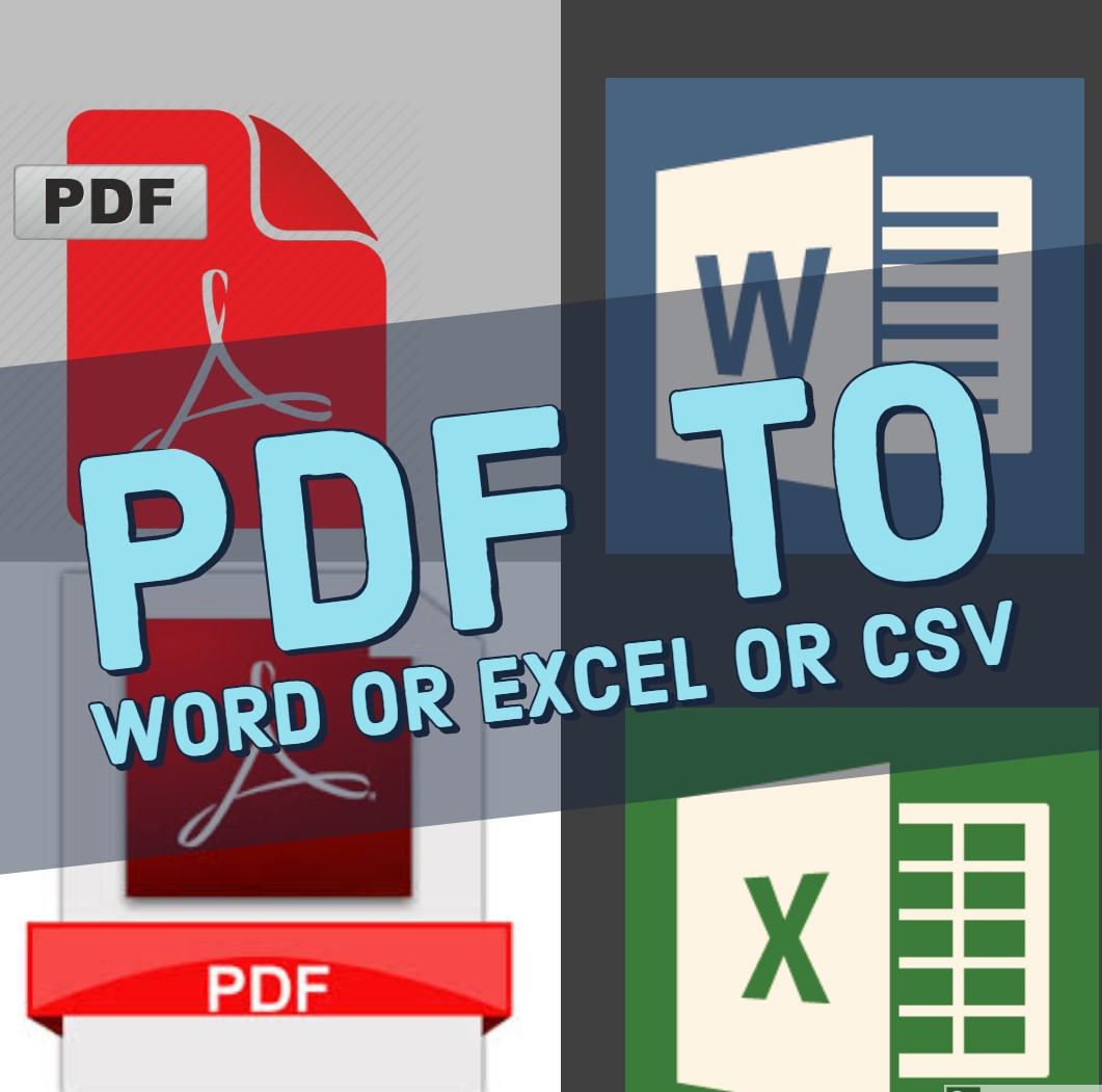 Convert Pdf To Excel Or Word Or CSV