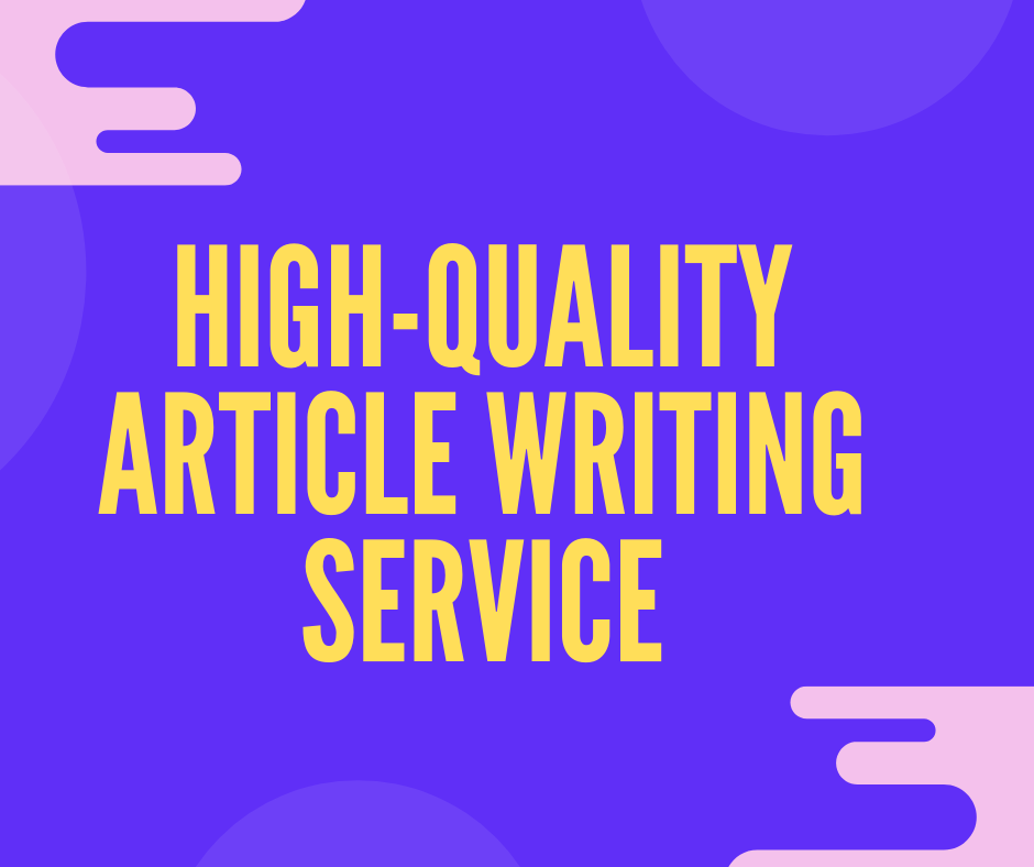 High-quality 1000 words SEO friendly,  copyscape passed article writing service