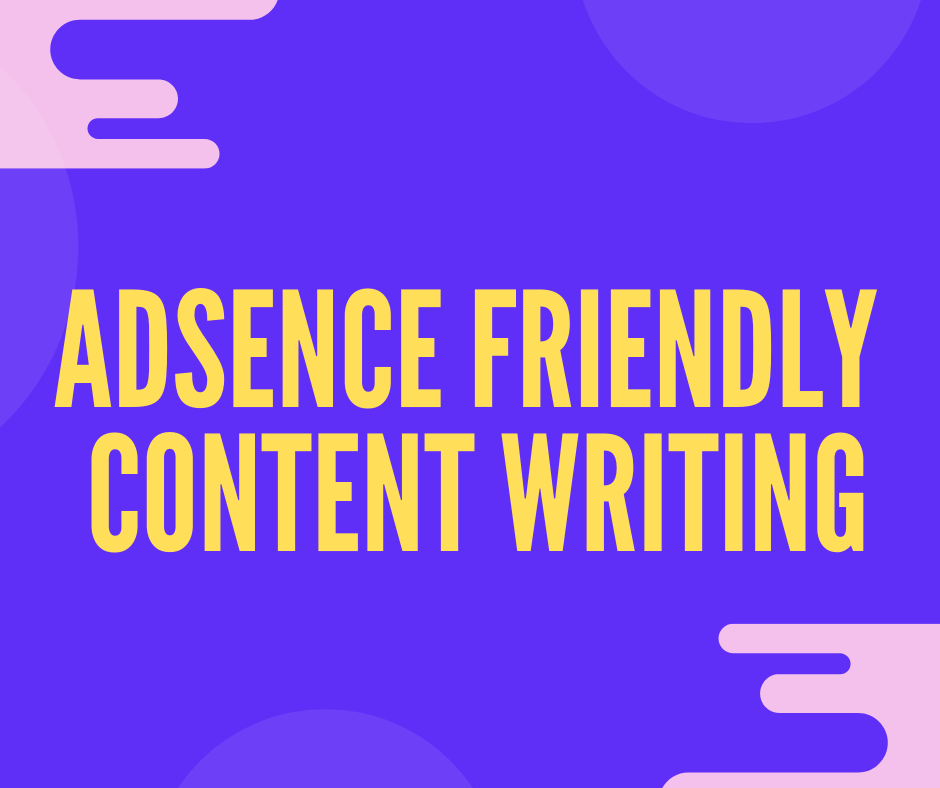 Adsence friendly 500 words article and blog post writ...