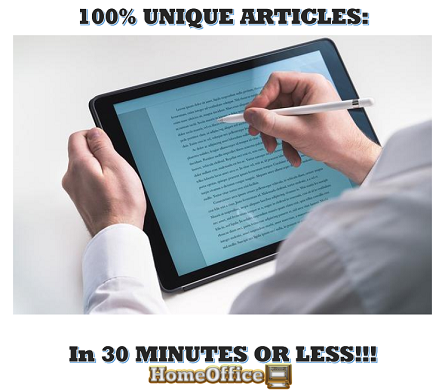 Unique Articles In 30 Minutes Or Less
