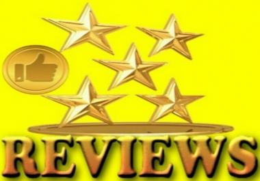 Write 2 Unique, high quality Reviews for website, business
