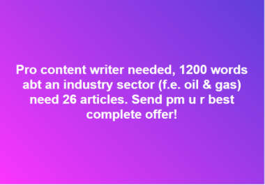intelligent content writer - several jobs - this is serie of 26