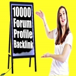 10000 Forum Profiles Backlinks