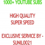 Real 1000+ Youtube Subs cribers
