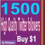 Add 1500 High quality Twitter followers