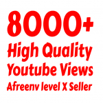 I will add 8000+ High Quality Youtube vie ws