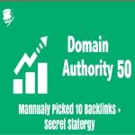 10 QUALITY DA 50 BACKLINKS - November Update