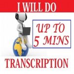 Do Transcription For Up to 5 min Audio or Video