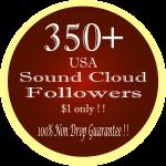 350+ real USA non drop SoundCloud Followers