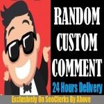 Start Instant 10 To 40 Comments Random Or Custom In Social Media Posts