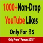 1000+ Non-Drop YouTube Likes Instant Start