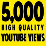 5000+ High Rention Youtube Views to get you Video on HIGH Rank SEO