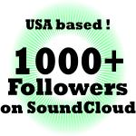1000 USA & Permanent Soundcloud Followers