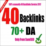 I will manually create 40 Backlinks From Da 70 to 100,  Skyrocket Your Ranking