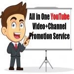 All in One YouTube Video+Channel Promotion Service Get Your Message Across