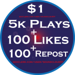 5000 Plays and 100 Likes+ 100 Repost within 24 Hours.