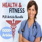 15000 Health & Fitness PLR Articles bundle