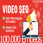 Video SEO Bomb - 100,000 Video Social Embeds with backlinks and Signals that bring organic views