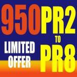 I will create 950 safe high PR backlinks